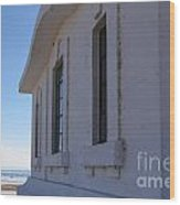 Point Abino Lighthouse Windows Wood Print