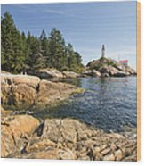 Point Atkinson Lighthouse In Vancouver Bc Wood Print
