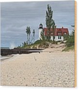 Point Betsie Lighthouse Classic View Wood Print