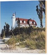 Point Betsie Lighthouse Wood Print