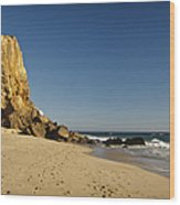Point Dume At Zuma Beach Wood Print by Adam Romanowicz