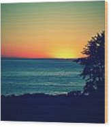 Malibu Sunset Wood Print