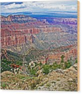 Point Imperial 8803 Feet On North Rim Of Grand Canyon National Park-arizona   Wood Print