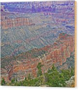 Point Imperial On North Rim Of Grand Canyon National Park-arizona   Wood Print