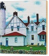 Point Iroquois Lighthouse Wood Print