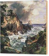 Point Lobos Monterey California Wood Print by Thomas Moran
