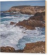 Point Lobos Surf Wood Print
