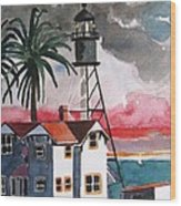 Point Loma California Wood Print