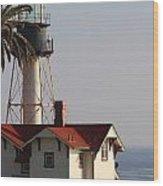 Point Loma California Lighthouse Wood Print