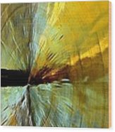 Point Of Impact In Copper And Green2 Wood Print