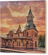 Point Of Rocks Train Station  Wood Print