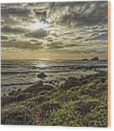 Point Piedras Blancas Sunset 1 Wood Print