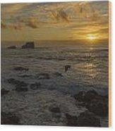 Point Piedras Blancas Sunset Wood Print