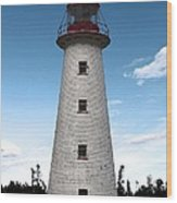 Point Prim Lighthouse 3 Wood Print