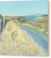 Point Reyes Country Road Wood Print