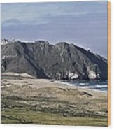 Point Sur And Lighthouse Wood Print