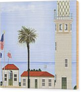 Point Vicente Lighthouse Wood Print by Anne Norskog