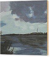 Pointe Aux Chein Blue Skies Wood Print