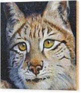 Pointed Advantage - Siberian Lynx Wood Print