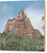 Pointed Rock Wood Print