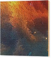 Points Of Light Abstract Art By Sharon Cummings Wood Print