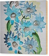 Pointy Petals Wood Print