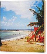 Poipu Beach Kauai Hawaii Wood Print