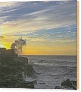 Poipu Kauai Sunrise Wood Print
