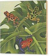 Poison Pals Wood Print