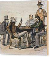 Poker Game, 1840s Wood Print