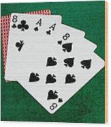 Poker Hands - Dead Man's Hand 2 V.2 Wood Print