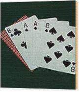 Poker Hands - Dead Man's Hand Wood Print