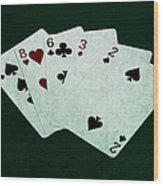 Poker Hands - High Card 4 Wood Print