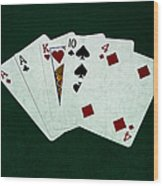 Poker Hands - One Pair 1 Wood Print