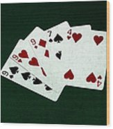 Poker Hands - Three Of A Kind 2 Wood Print
