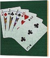 Poker Hands - Three Of A Kind 3 Wood Print