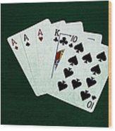 Poker Hands - Three Of A Kind 4 Wood Print