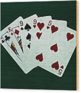 Poker Hands - Two Pair 1 Wood Print