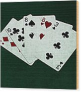 Poker Hands - Two Pair 4 Wood Print