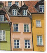 Poland, Warsaw Close-up Of Building Wood Print
