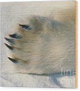 Polar Bear Paw Wood Print