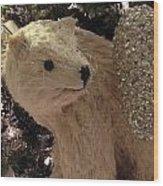 Polar Bear With Ornaments Wood Print