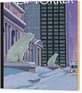 Polar Bears On Fifth Avenue Wood Print