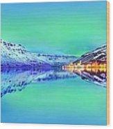 Polar Lights Aurora Borealis Or Just Haven Wood Print