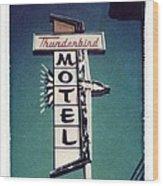 Polaroid Transfer Motel Wood Print