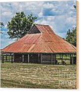 Pole Barn Wood Print