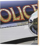 Police Car Wood Print
