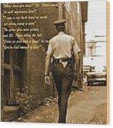 Police Poem Wood Print