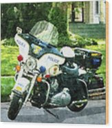 Police - Police Motorcycle Wood Print