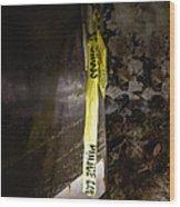Police Tape Wood Print